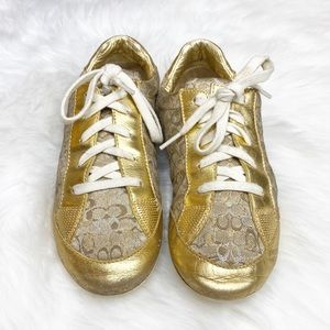 Coach Gold Sneakers Size 7